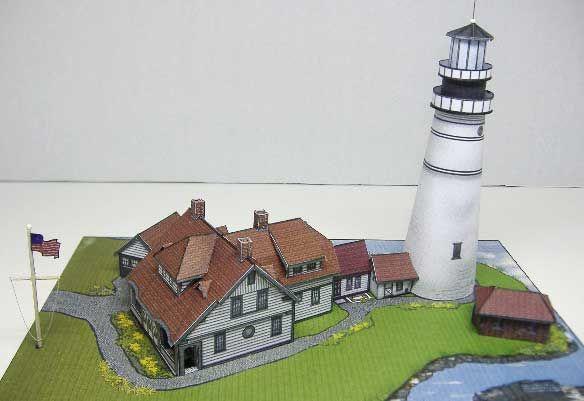 Portland head lighthouse maine card model lighthouse for dolls portland head lighthouse maine card model pronofoot35fo Choice Image