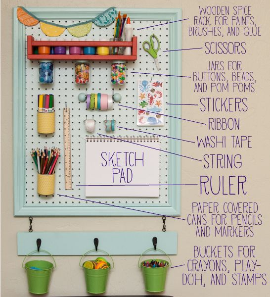 Upcycled Kids Art Station - So You Think You're Crafty