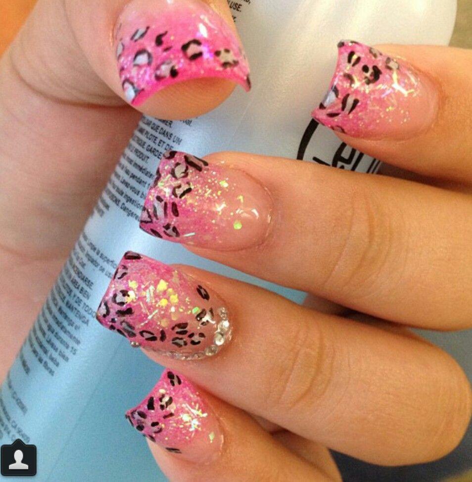 pink cheetah nailology in 2019