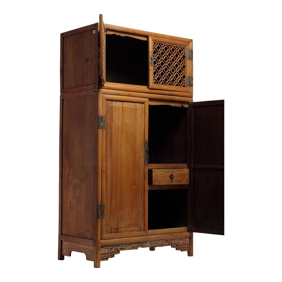 Antique Chinese Kitchen Cabinet / Armoire