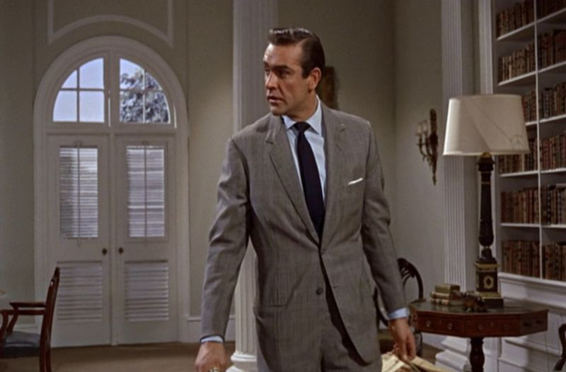 Sean Connery In Dr No The Template For 007 James Bond Outfits Sean Connery James Bond James Bond Style