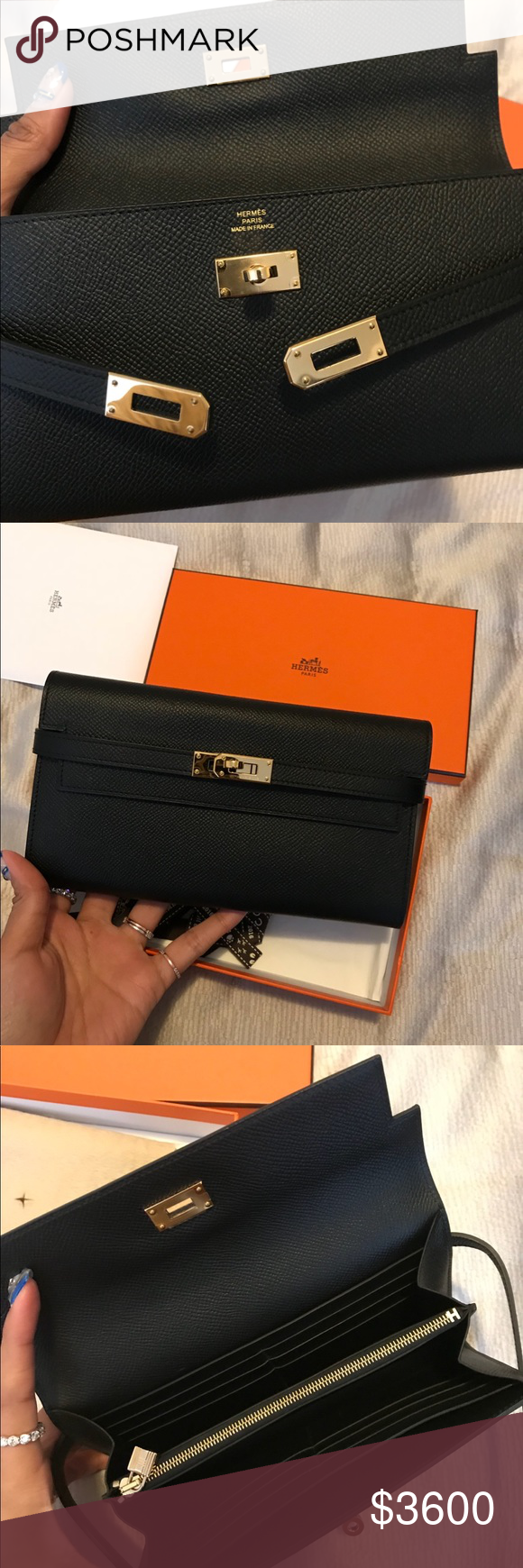 cb8981366f1 Authentic Hermès Kelly classic wallet Authentic kelly classic wallet in blk  and ghw Almost like new Come with box Only selling as the right price  Authentic ...