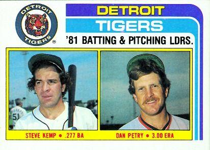 Steve Kemp and Dan Petry Detroit Tigers Checklist Card 1982 - Detroit Tigers  Card Number: 666