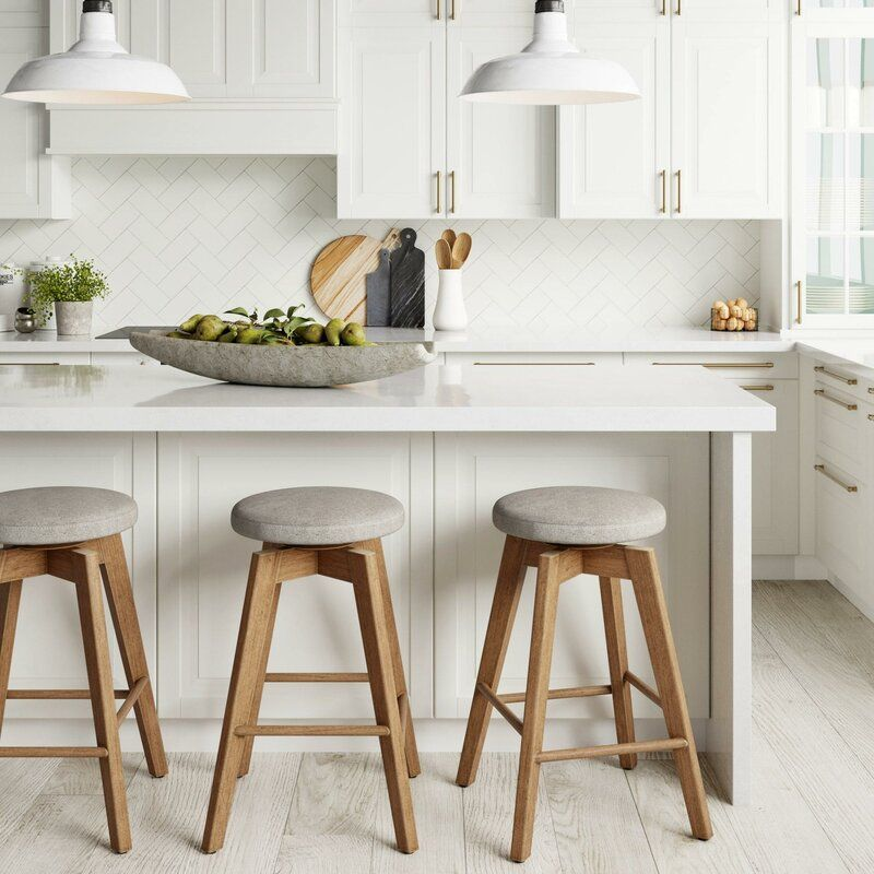 Amalia Swivel 26 Counter Stool In 2020 With Images Wood Bar Stools Counter Stools Solid Wood Kitchens