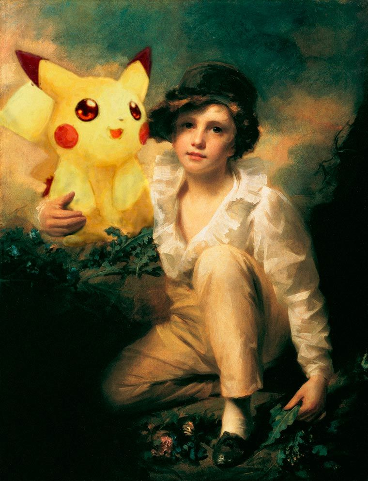 When Famous Cartoon Characters Are Inserted Into Classical Paintings
