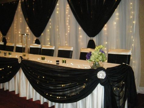 Head Tables with Style. We offer Head Table and Backdrop decor in ...