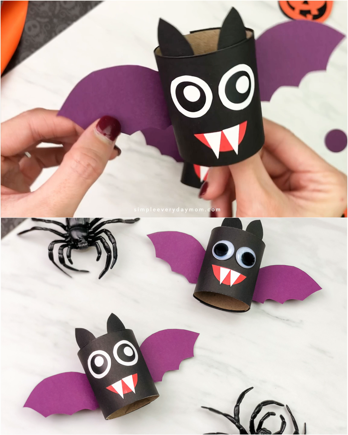 Toilet Paper Roll Bat Craft For Kids  #easycrafts