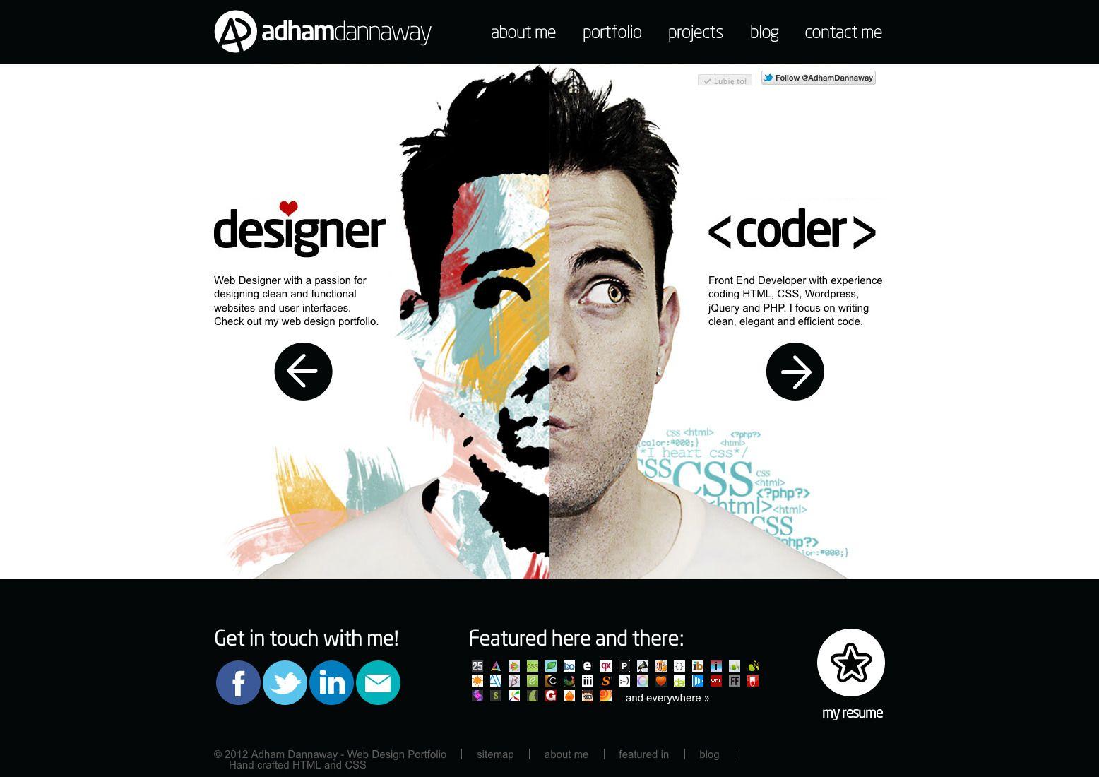 Adham Dannaway Personal Website Web Design Dev Portfolio Web Design Portfolio Website Design Portfolio Design