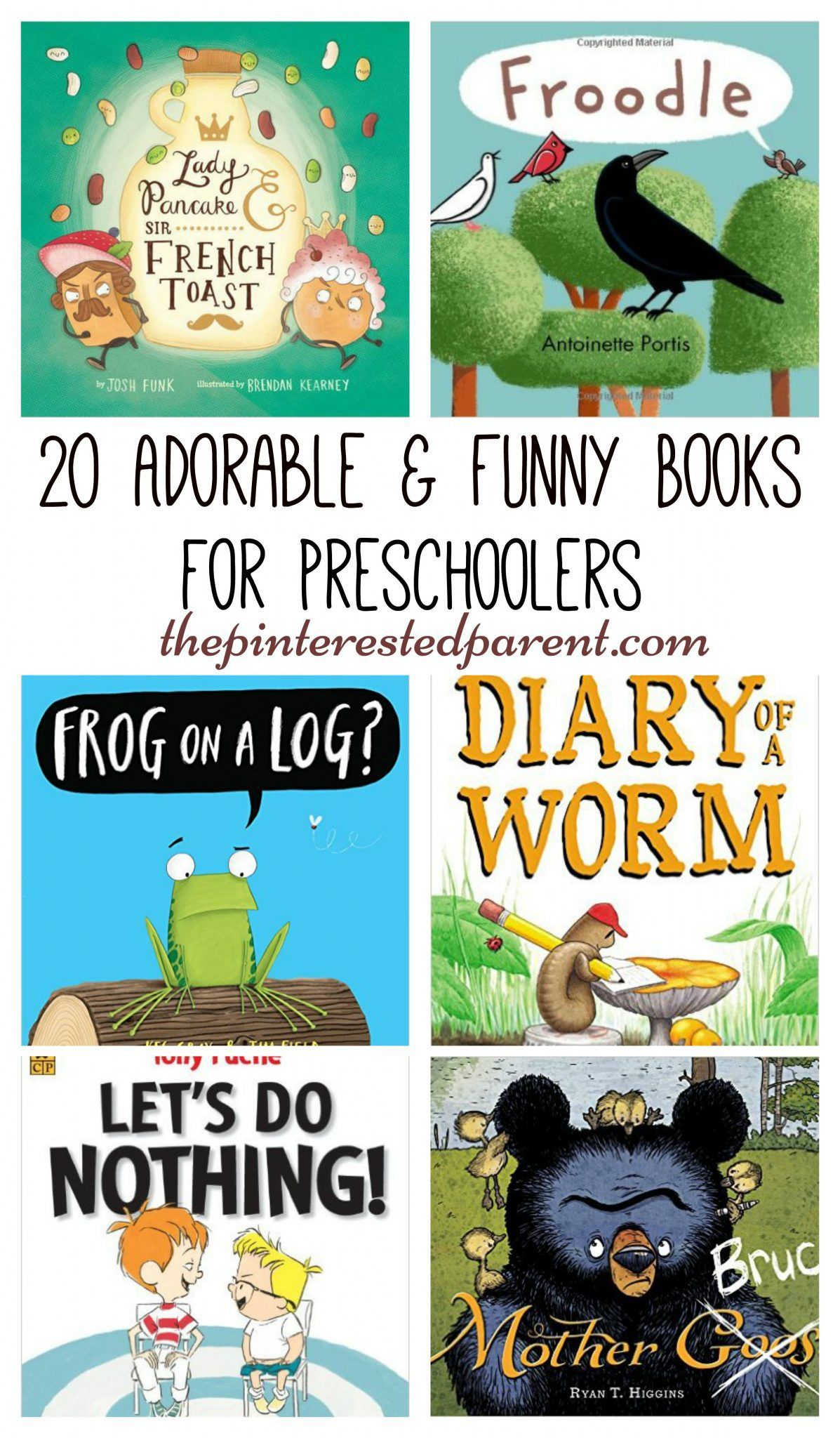20 laugh out loud Cute and adorable books for preschoolers - funny books for kids to read and laugh.