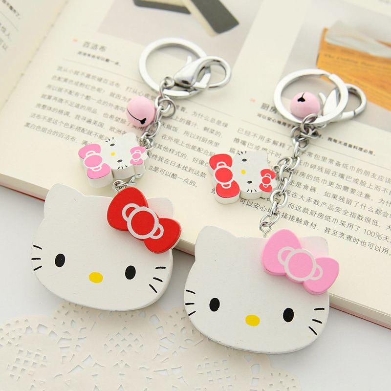 Hello Kitty Keychain Key Chain Pendant Car Bag Keyring Girls Lovely Gift