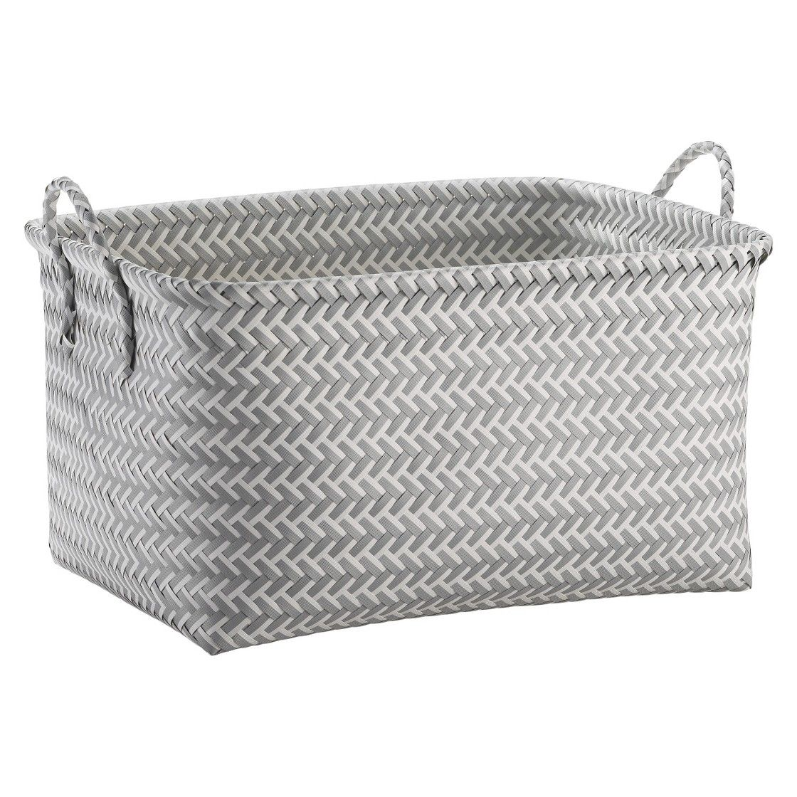 Laundry Bag Target Large Woven Rectangular Storage Basket  Gray And White  Room