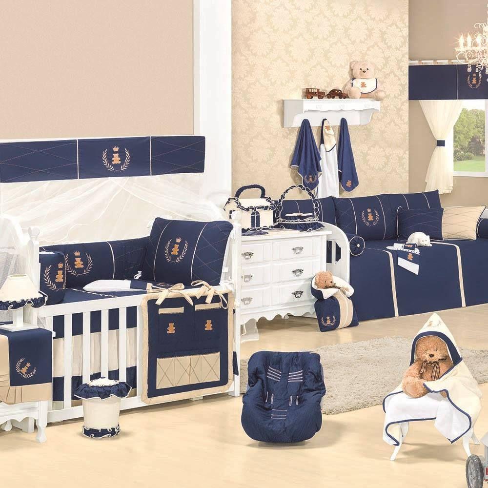 Quarto Para Bebe Realeza Marinho Premium Azul Marinho Calebe  ~ Quarto De Bebe Masculino Principe