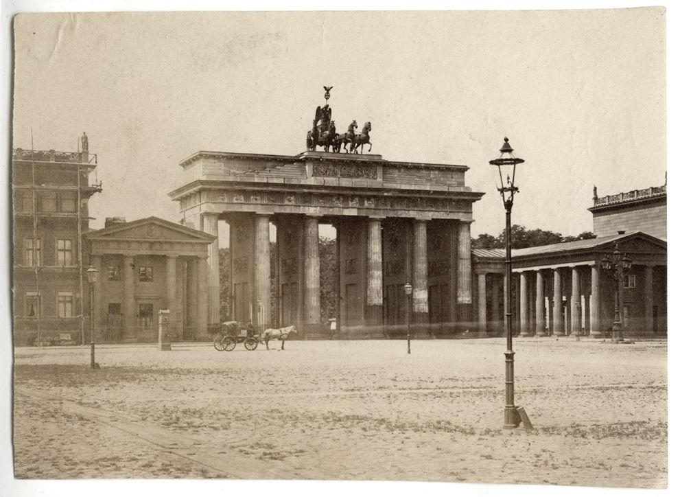 Berlin Brandenburger Tor 1883 Brandenburger Tor Hauptstadt Berlin