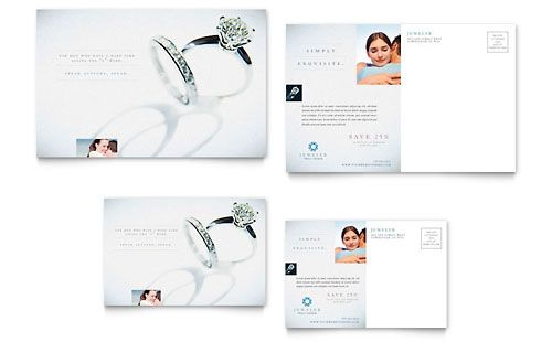 Jeweler  Jewelry Store  Postcard Template  Postcards