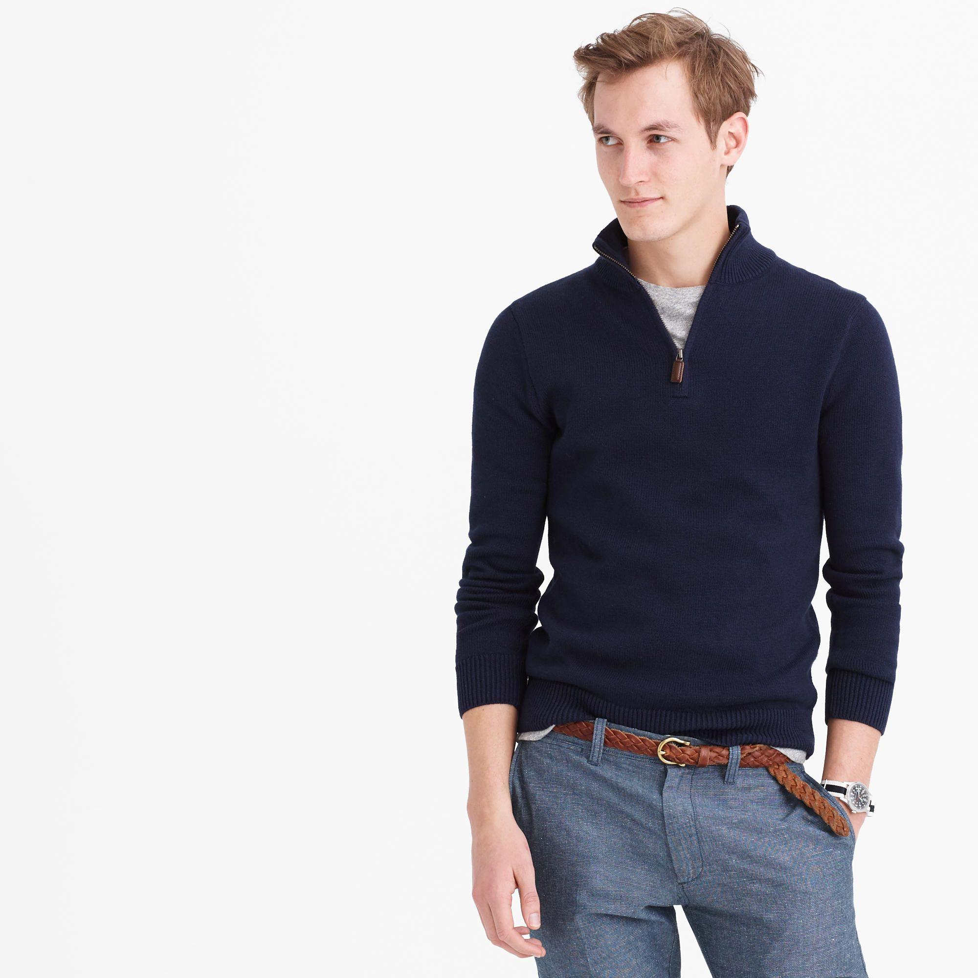 Slim cotton-cashmere half-zip sweater | Half zip sweaters ...