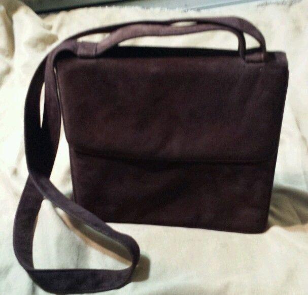 Episode Brown Suede Crossbody Leather Handbag Shoulder Bag Nice In Handbags Purses Ebay