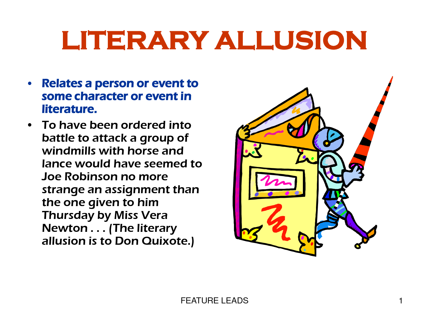 An Allusion Is A Reference To An Event Or Someone In Literature Art