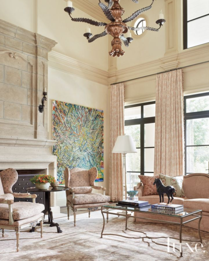 50 Best Small Living Room Design Ideas For 2020: A French, Neoclassical-Style Residence In Dallas