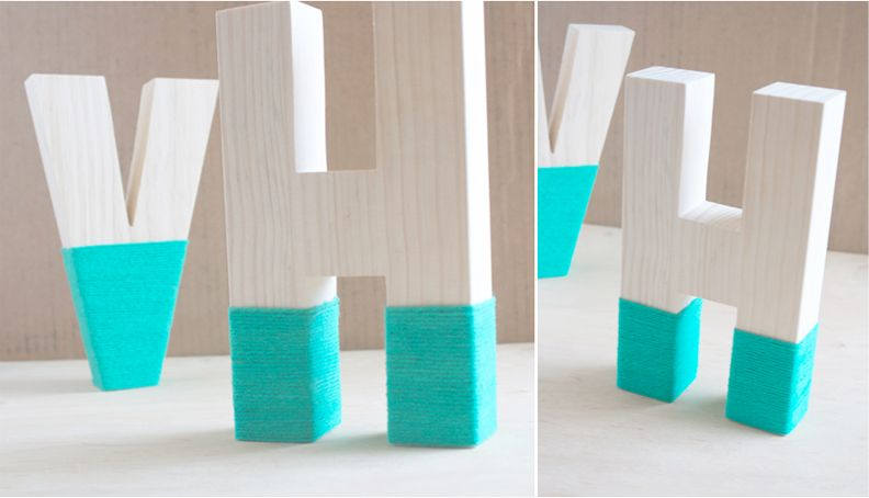 Yarn Dipped Monogram Letters