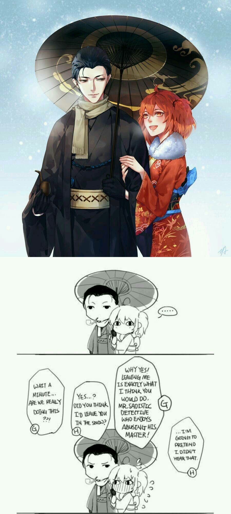 Sherlock and Gudako (With images) Moriarty funny, Fate