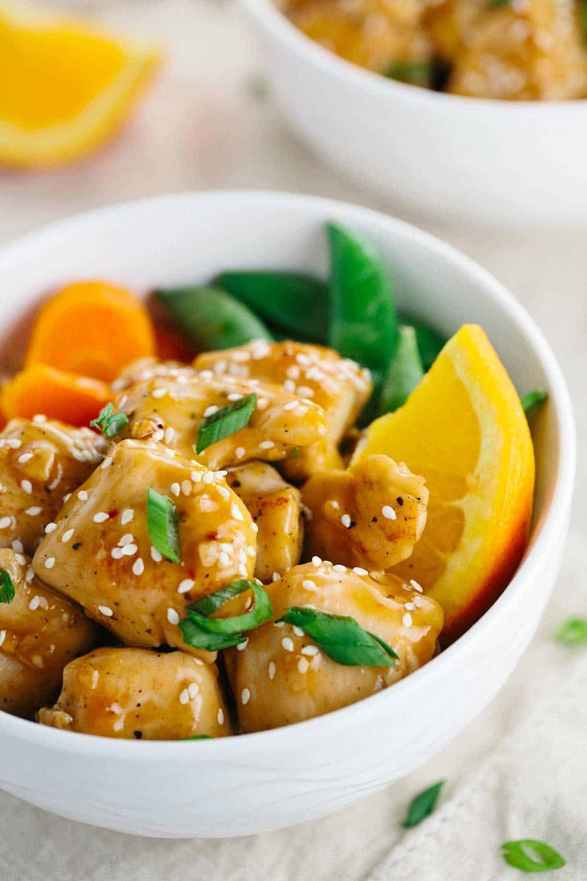 Chinese Orange Chicken #chineseorangechicken This easy Chinese orange chicken recipe is a healthier homemade option. Lean chicken breast stir-fried and simmered in a sweet and tangy orange sauce. #orangechicken #pandaexpress #chinesefood #takeout #chineseorangechicken Chinese Orange Chicken #chineseorangechicken This easy Chinese orange chicken recipe is a healthier homemade option. Lean chicken breast stir-fried and simmered in a sweet and tangy orange sauce. #orangechicken #pandaexpress #chine #chineseorangechicken