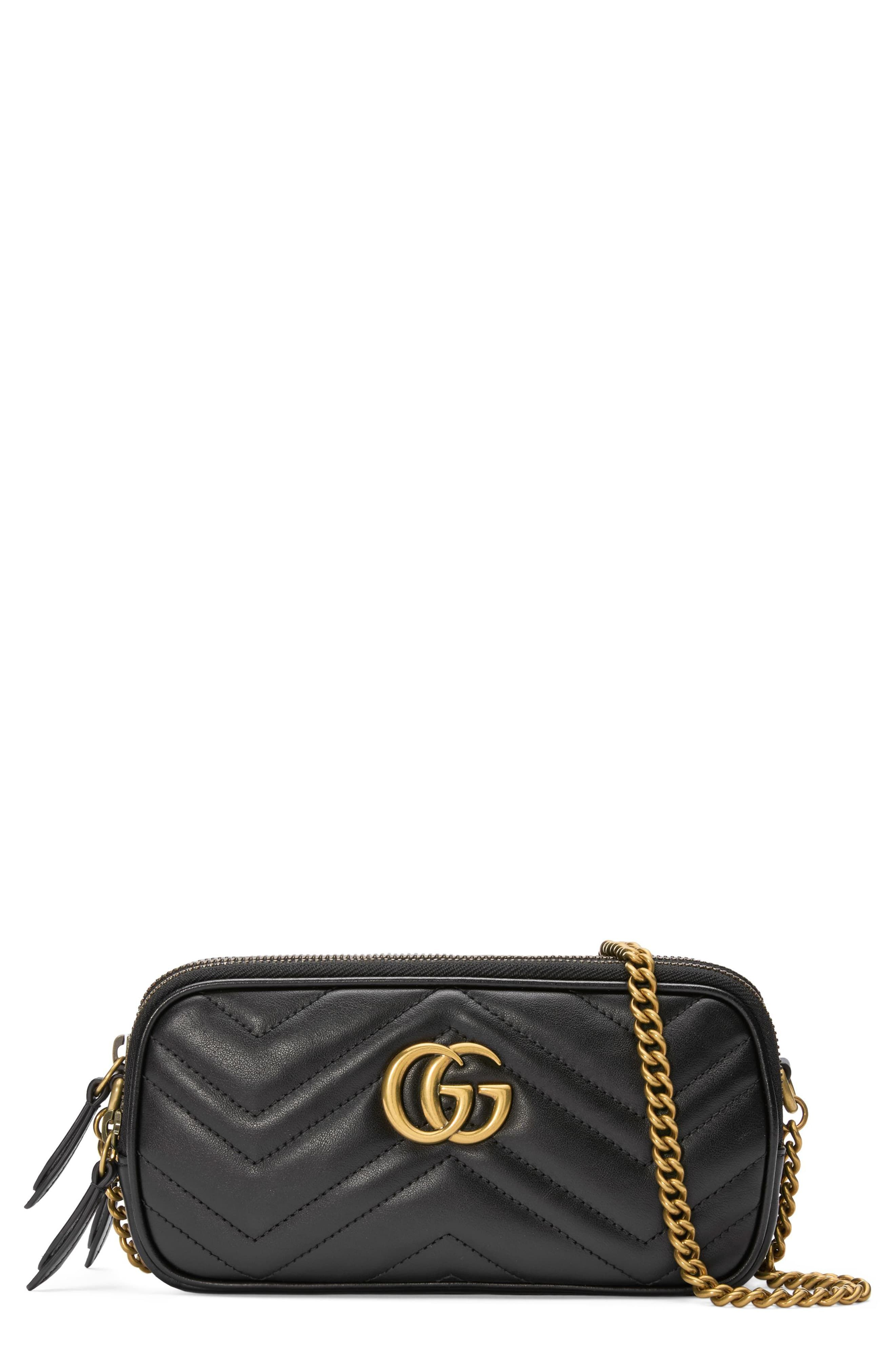 870042be Gucci Marmont 2.0 Leather Crossbody Bag - Beige in 2019 | Products ...