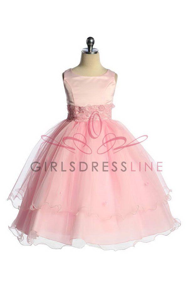 Pink Flower Girl Dress | Gabby | Pinterest | Vestiditos
