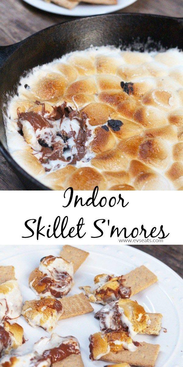 Indoor Skillet S'mores- Easy & Delicious - Ev's Eats