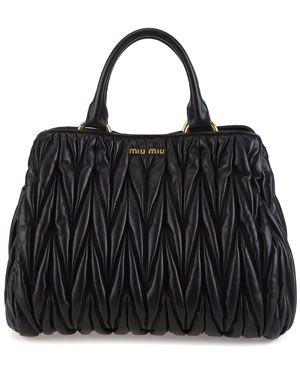 Miu Miu 'Matelasse' Leather Bag