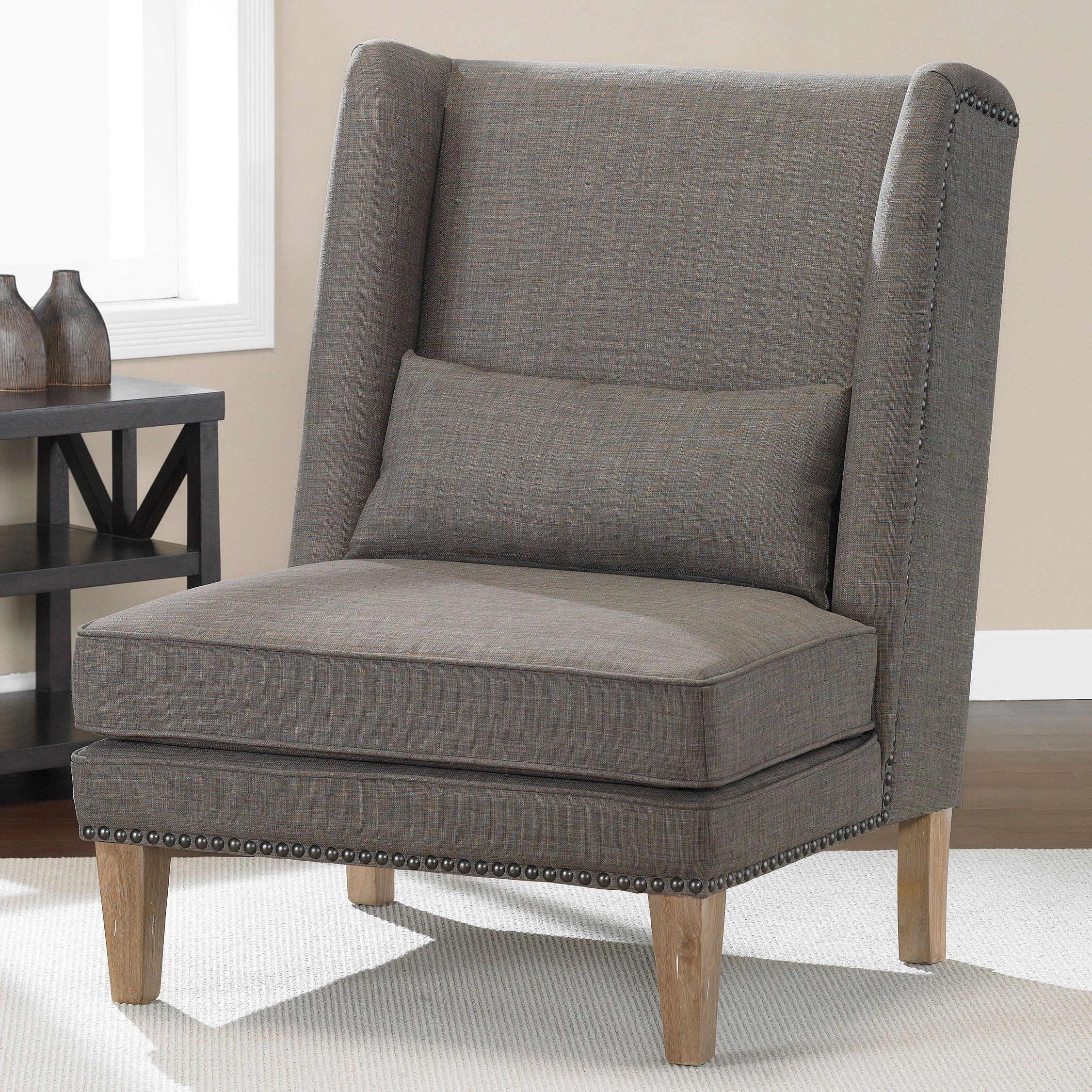 This Beautifully Designed Linen Wing Chair Will Add A Touch