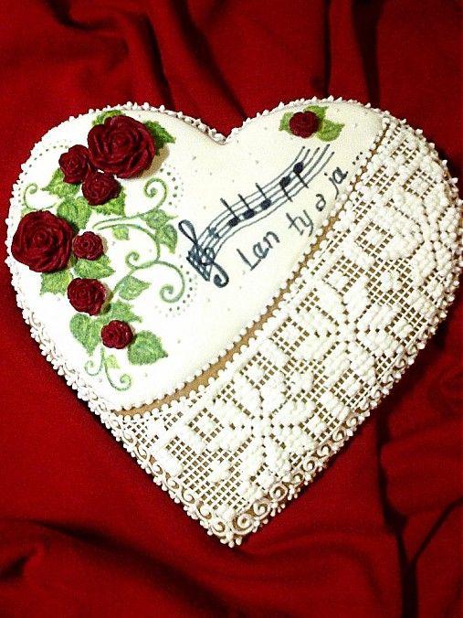 Valentínske medovníkové srdiečko