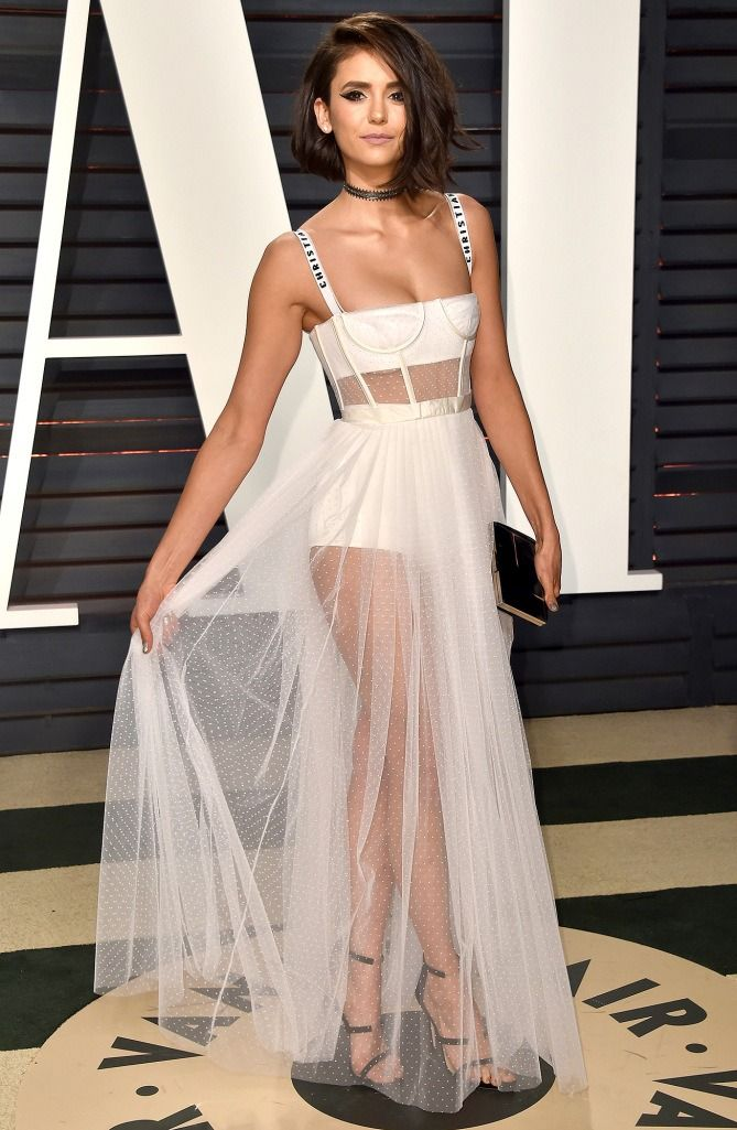 102 Awesome Oscars Weekend Outfits You Didn T See But Can Miss Nina Dobrev In Dior
