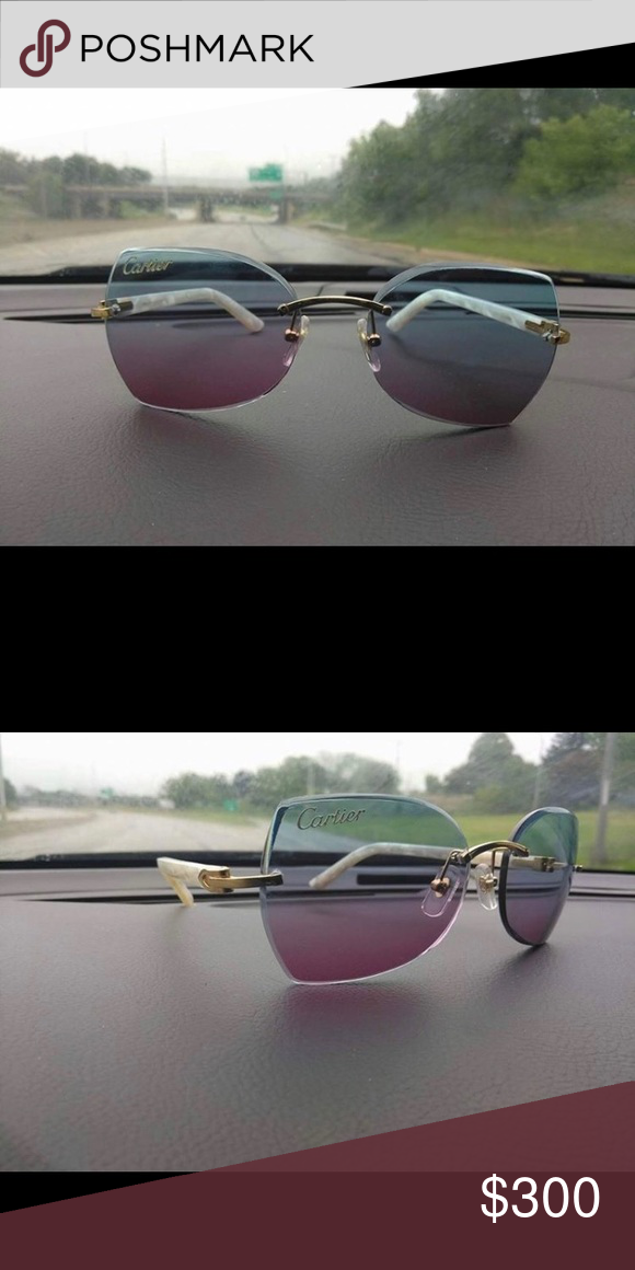 1ee73f2771e4f White buffalo horn Cartier glasses White buffalo horn Cartier glasses multi  color lens Accessories Glasses