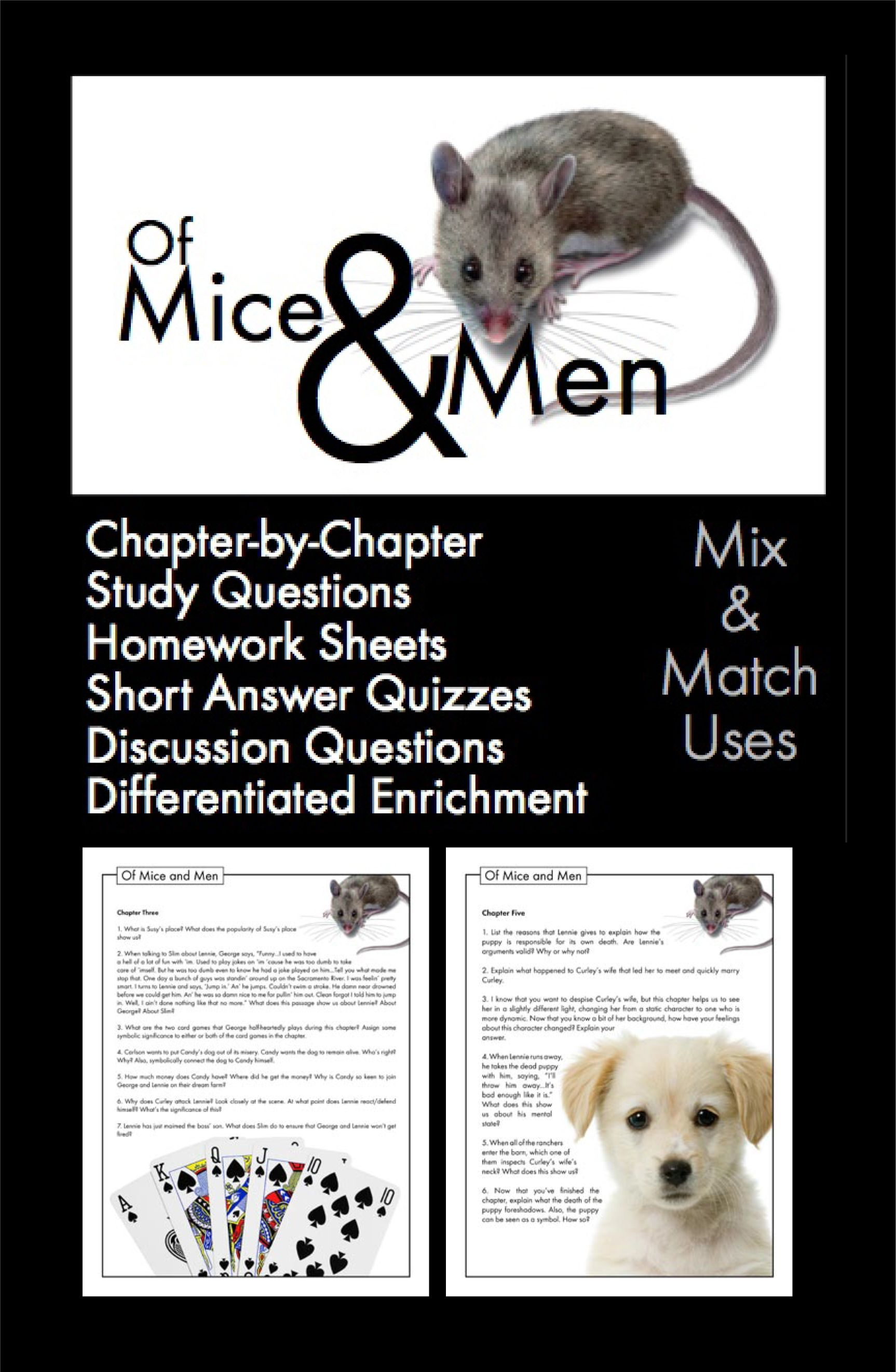of mice and men 13 essay - of mice and men: the struggle for happiness in the novel of mice and men, john steinbeck illustrates the possibilities that life has and its effects on lennie, crooks and george it shows a view of two outsiders struggling to understand their own unique places in the world.