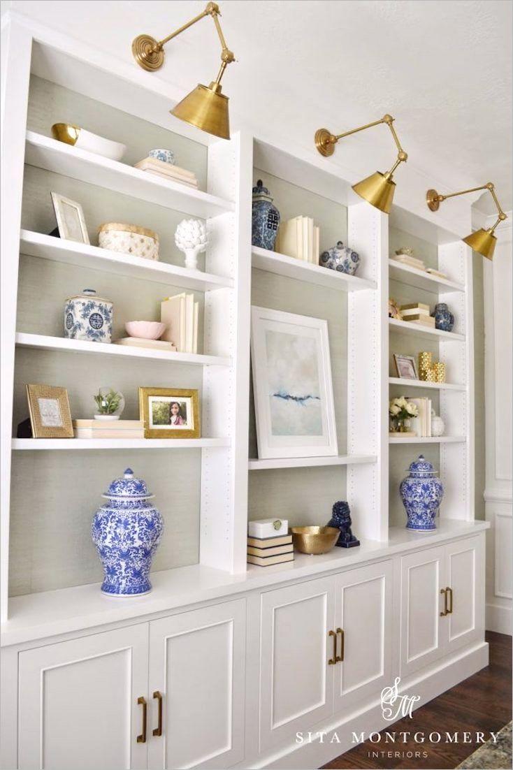decorating built in shelves 10 images