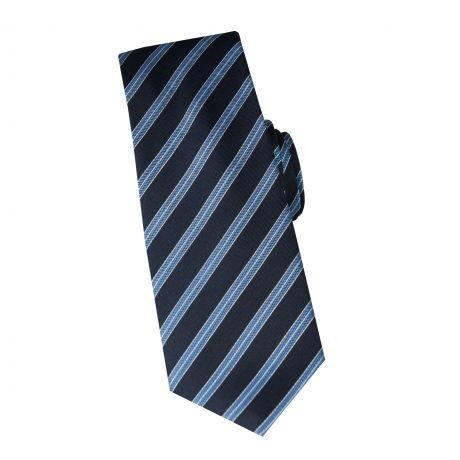 Cravate en soie marine à rayures ciel #cravate http://www.cafecoton.fr/cravate-soie-homme/10896-cravate-en-soie-marine-a-rayures-ciel.html