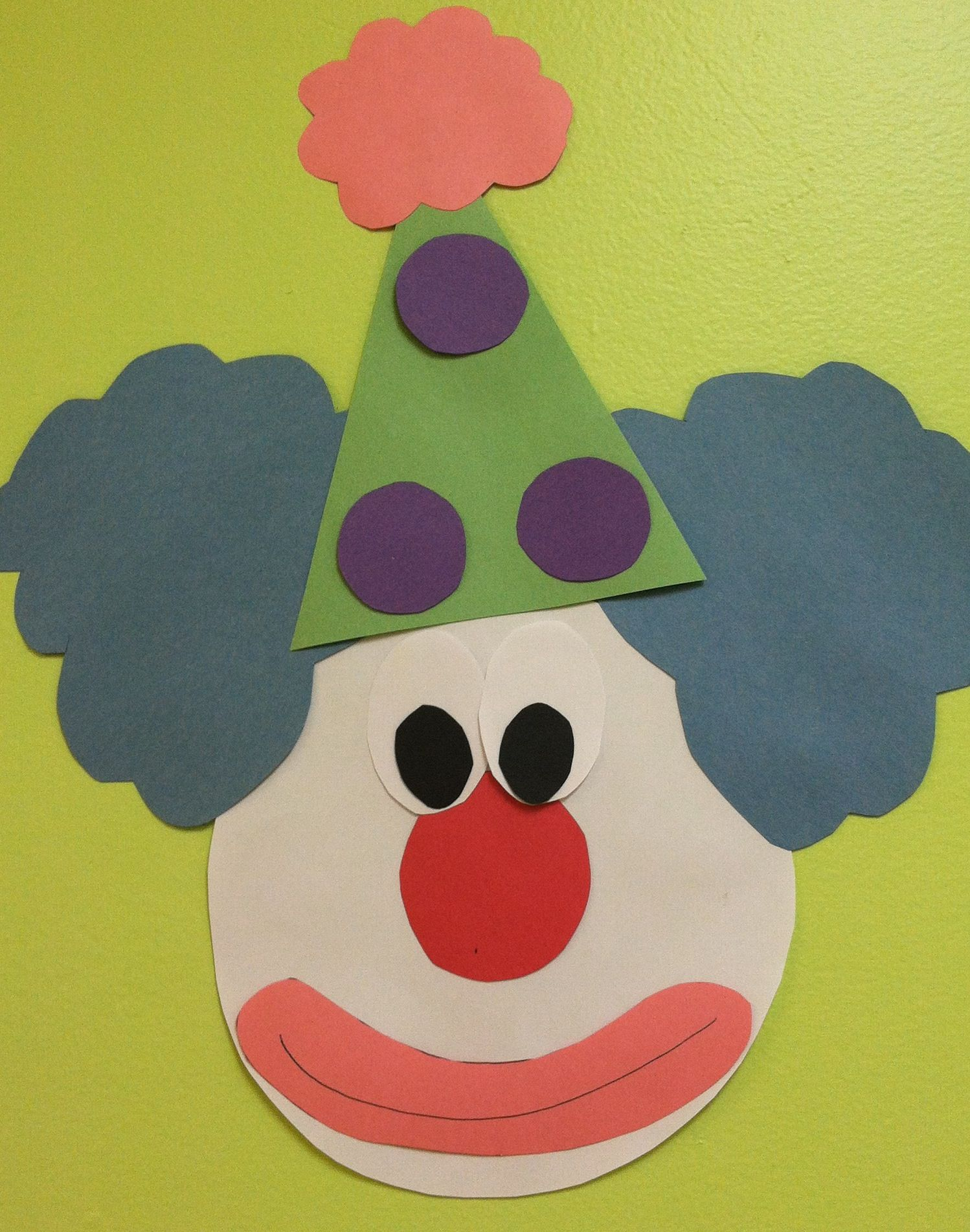 Clown Face Decoration or craft for preschool craft not Toddlers ...