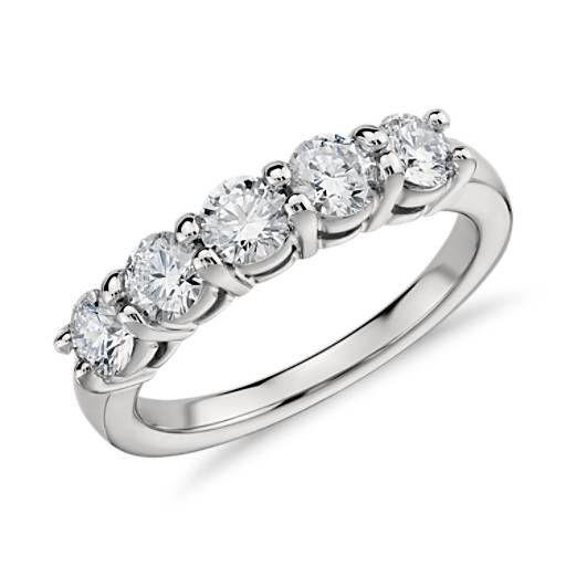 Eternal Five Stone Diamond Ring In Platinum 1 Ct Tw Diamond