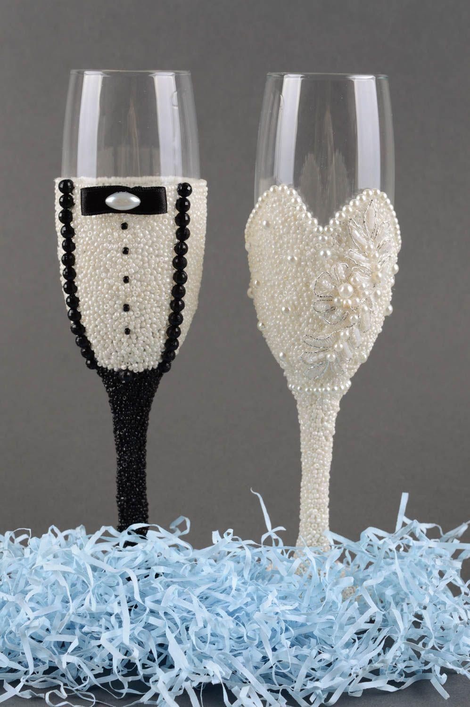 handmade gl ser set sektgl ser zur hochzeit champagner gl ser 2 st ck ebay wedding. Black Bedroom Furniture Sets. Home Design Ideas