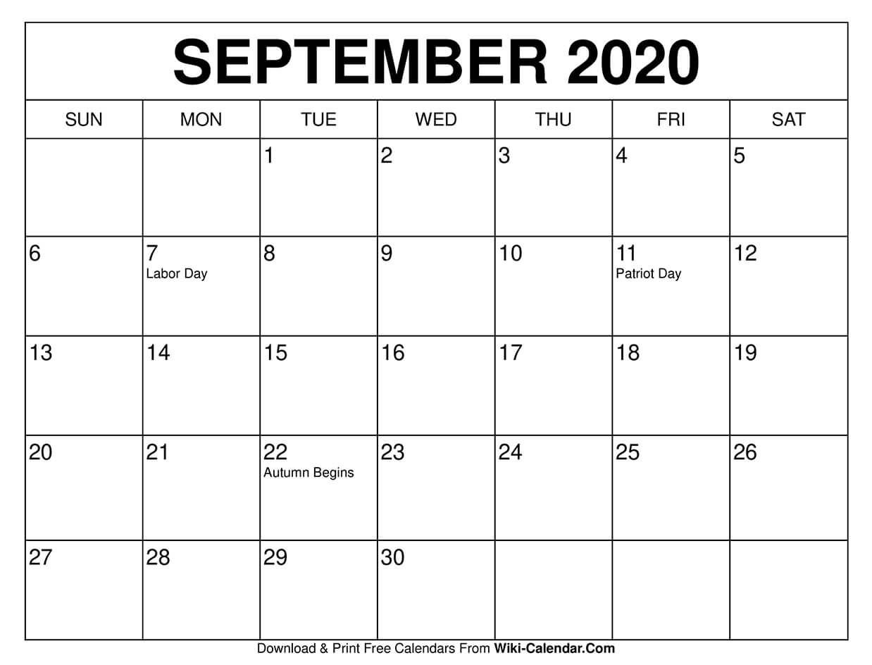 September 2021 Calendar - Free Download Printable Calendar ...