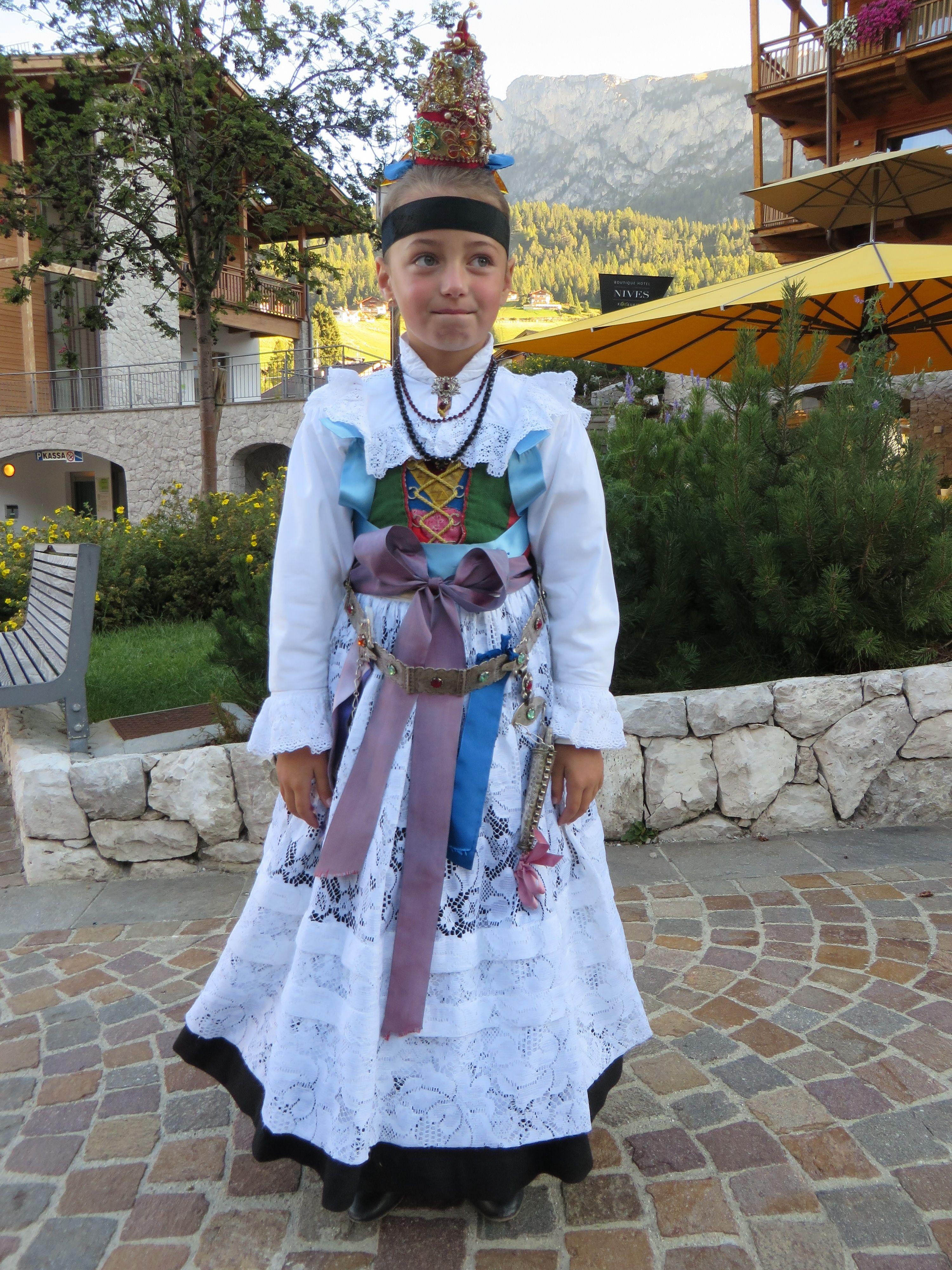 a lovely girl in Wolkenstein, Süd Tirol, Dolomieten