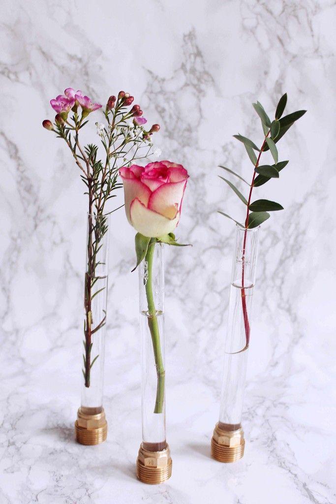 Beton Vasen Selber Machen reagenzglas vase basteln reagenzgläser vasen und wissen