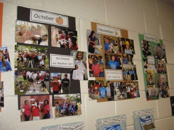 Classroom timeline, I am so doing this next year! Have empty timeline up on the first day of school. by maryanne