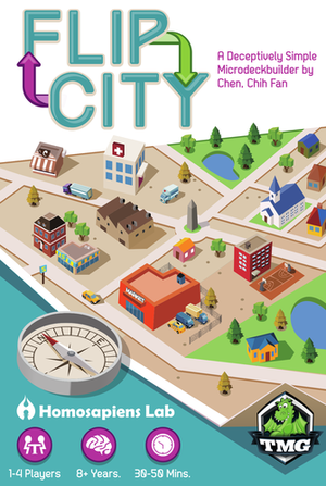 flip city board game permainan papan game pinterest