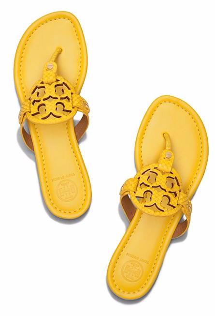 3384e276370 Love these sunny lemon Tory Burch Miller sandals