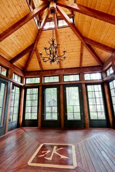 Post and Beam Tea House Interior Yankee Barn Homes