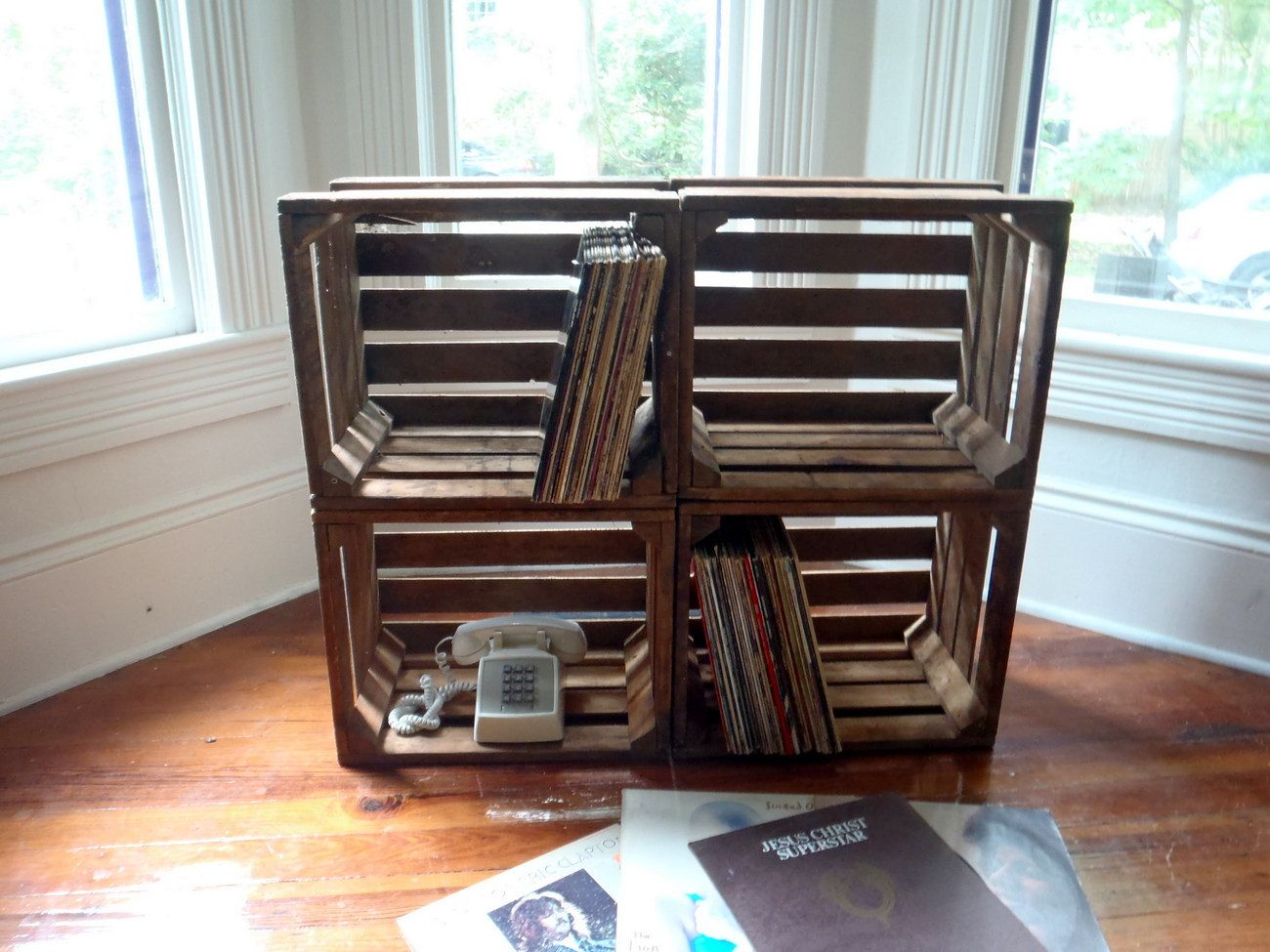 Wood Crate Rustic Crate Fruit Crate Large Crate LP Record Sized