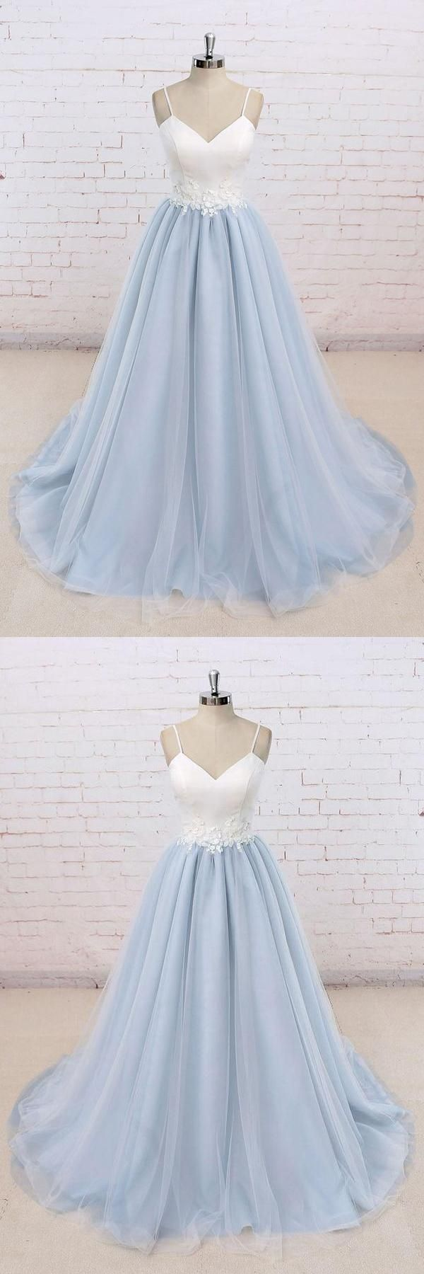 Outlet fancy simple prom dresses prom dresses blue white prom