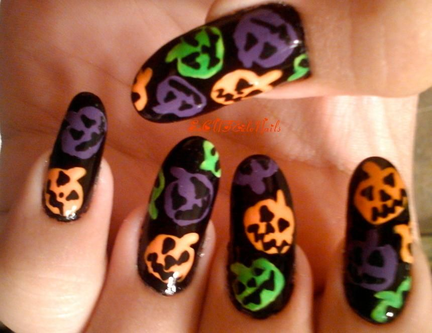 DIY Halloween Nails : Jack O Lantern Sprinkles Nails | DIY Halloween ...