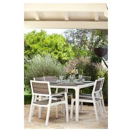 Keter Harmony Outdoor Dining Table Brown Target Patio Dining